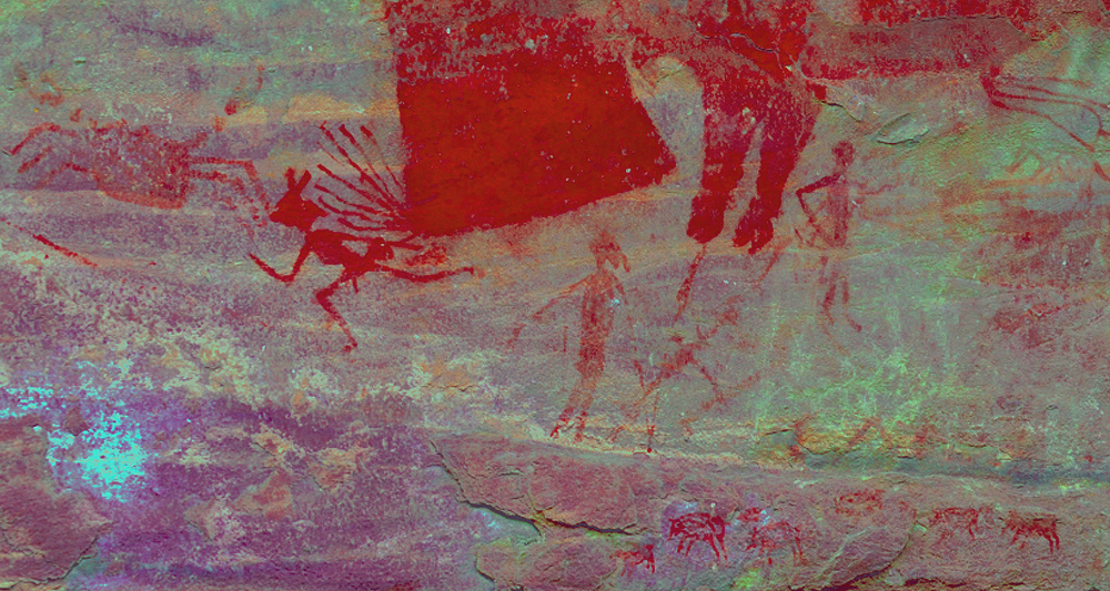 Bhimbetka rock art in India