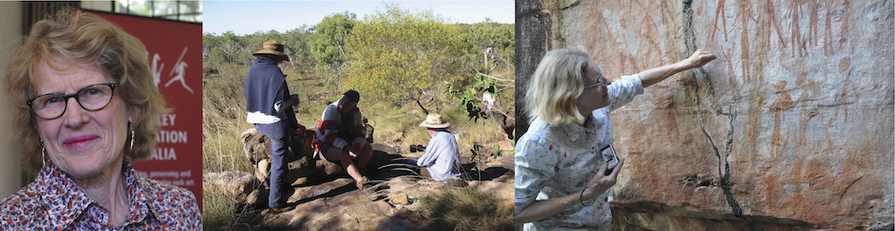 Maria Myers AC, Kimberley Foundation Australia Chairman. Gwion Gwion rock art of the Kimberley.