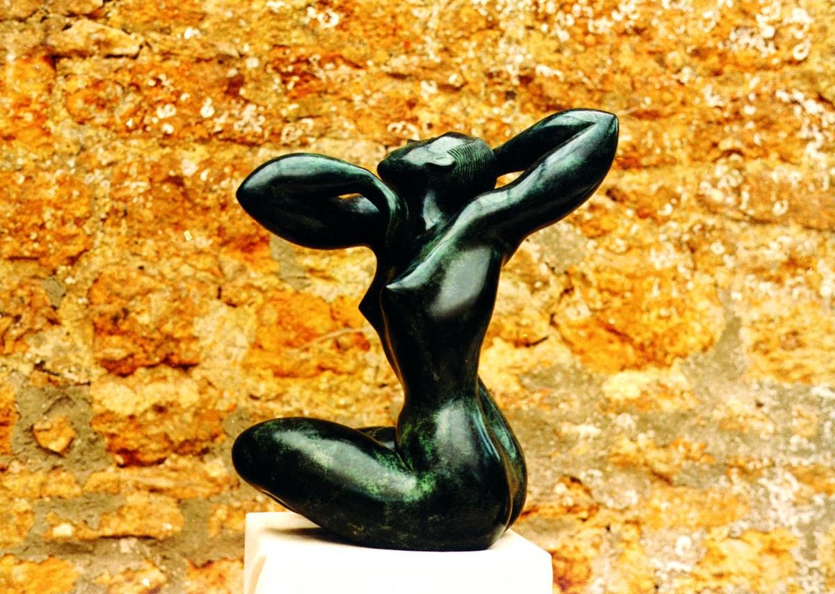 Odalisque bronze sculpture by Peter Lyell Robinson