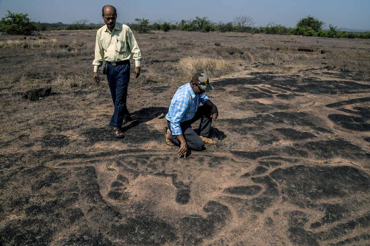 rock art carvings India coast plain Mumbai