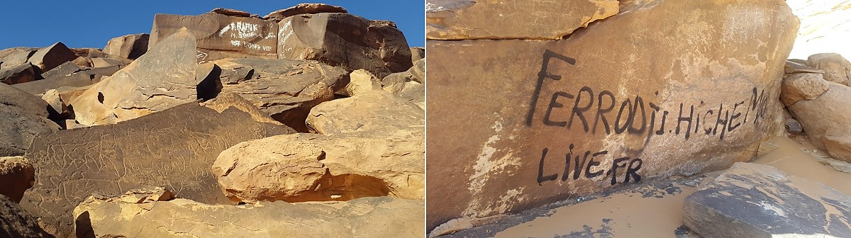 Vandalism of rock art in Algeria