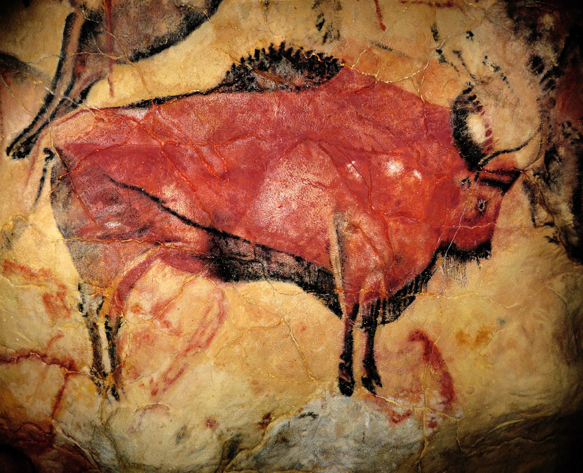Altamira Cave Art Paintings Spain