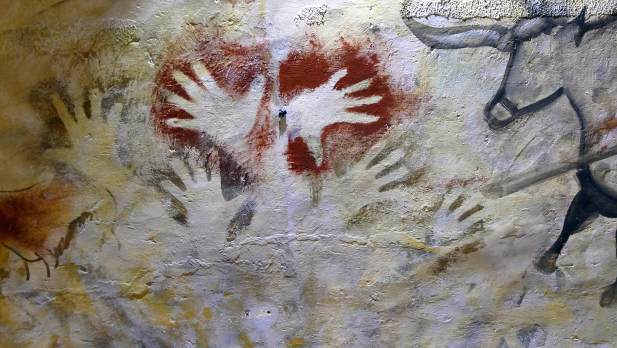 Cave of Altamira in Spain. Rock art