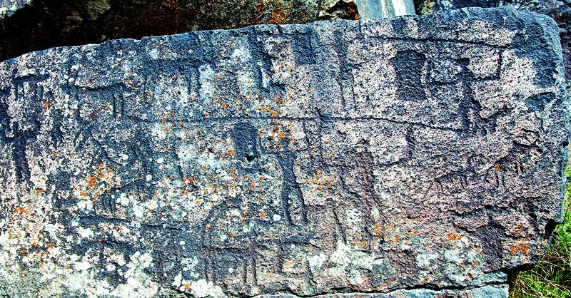 Petroglyphs near Ani in Turkey