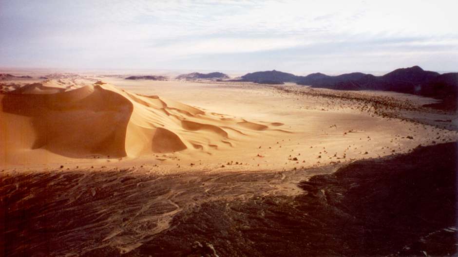 The Arakou sand dune of the Sahara desert