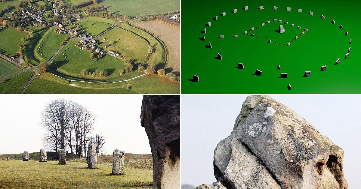 Discovery of stone square circle at Avebury