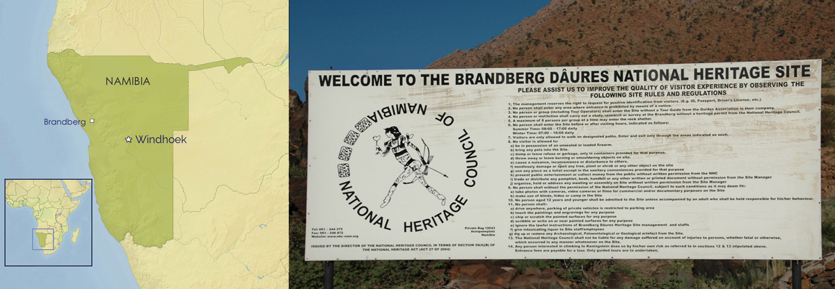 Brandberg rock art of Namibia, Africa