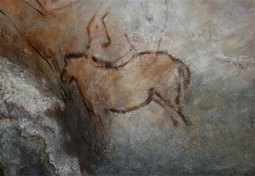 The prehistoric painted cave of Candamo in Spain