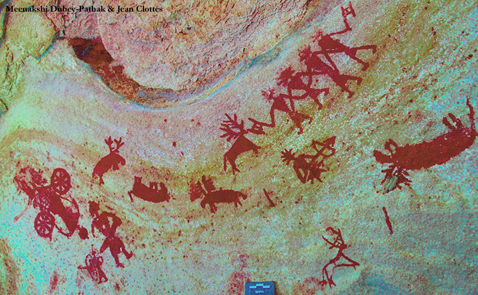 Stags depicted in Indian rock art