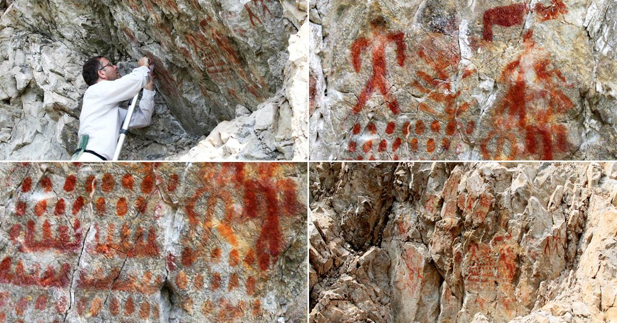 Rock art in Siberia
