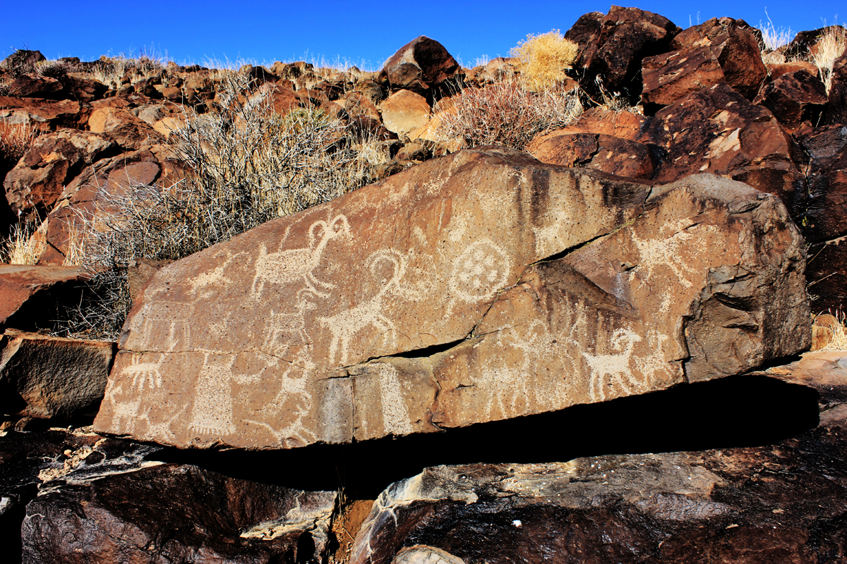Crow Canyon Tour. Coso rock art