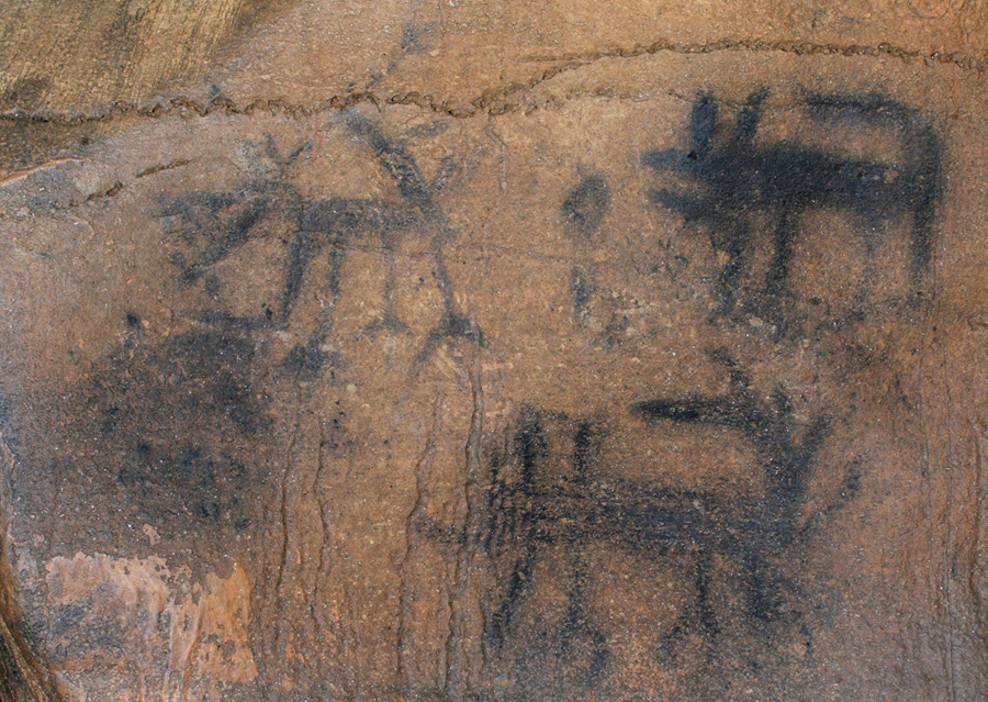 Cumberland Plateau Rock Art Cave Paintings Tennessee USA America