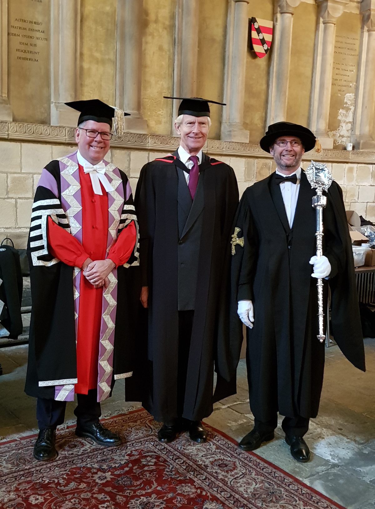 Bradshaw Foundation Chairman awarded honorary degree. Master of Science Honoris Causa is conferred upon Damon de Laszlo at the University of Durham. Rock art. Archaeology