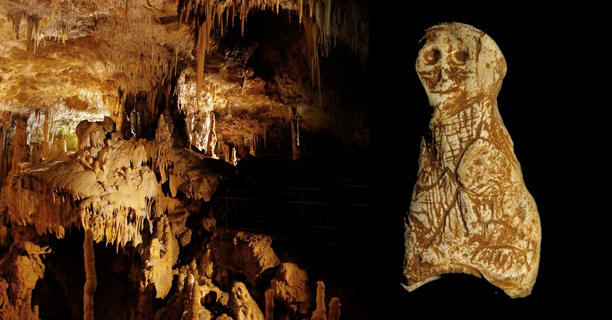 Palaeolithic sculpture discovered in France