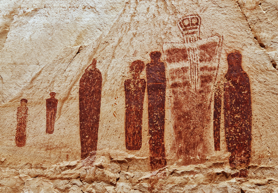 the rock art paintings of utah, featuring the ghost panel