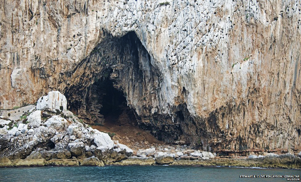 Goreham's Cave in Gibraltar occupied by Neanderthal