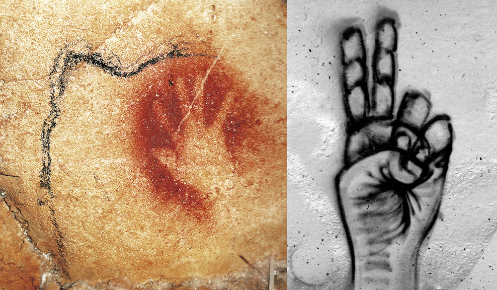 Rock art from Chauvet and graffiti
