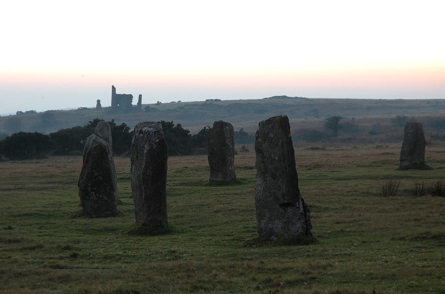 The stone circles of the Hurlers in Cornwall