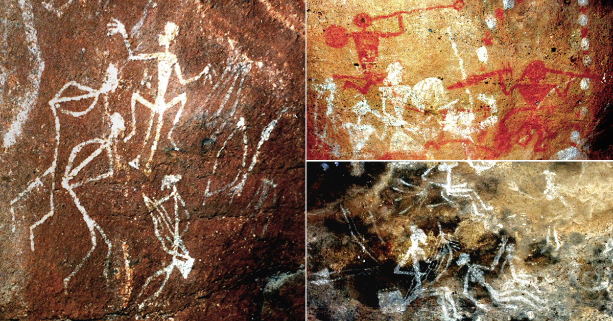 Musical depictions in Indian rock art
