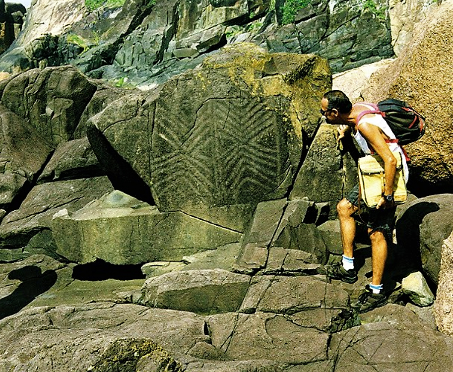 Brazilian archaeologist rock art reseacher Keler Lucas Brazil sacred symbols cave monuments astronomical observatories solstitial equinoctial alignments