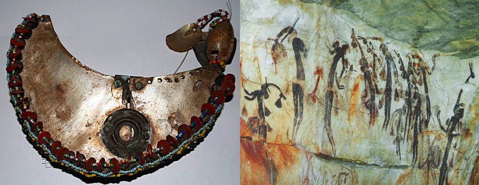 Kula necklace and Bradshaw paintings from Australia