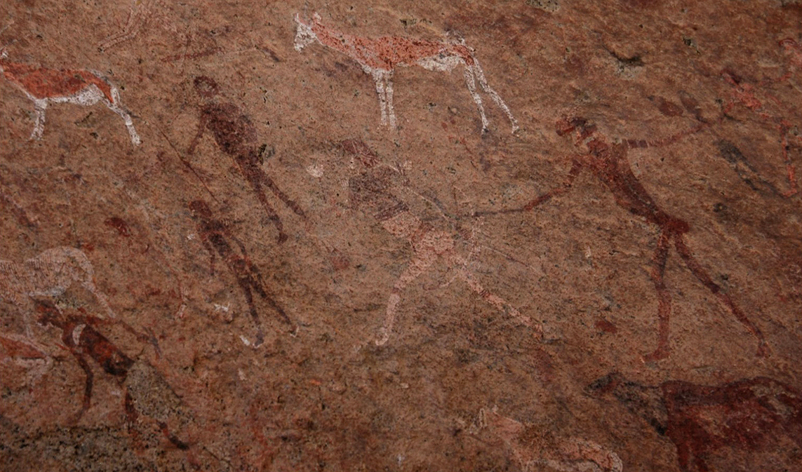 Namibia rock art White Lady Brandberg Getty archaeology petroglyphs Africa