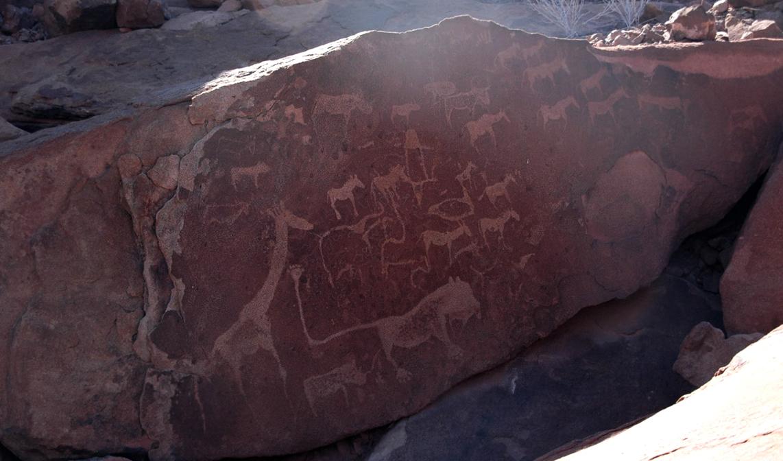 Namibia rock art Twyfeltonein archaeology petroglyphs Africa