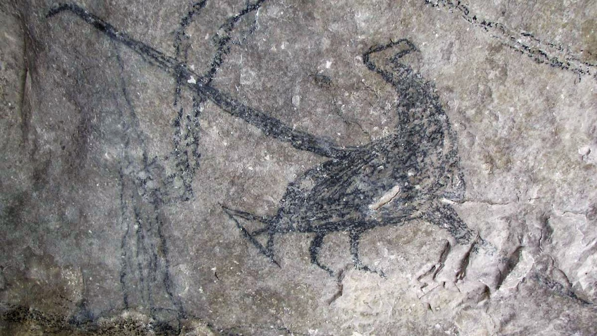 Maori rock art of the South Island of New Zealand