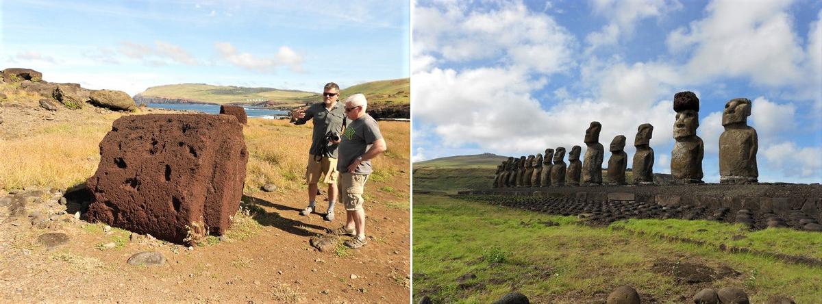 Constructing the Rapa Nui moai. Easter Island