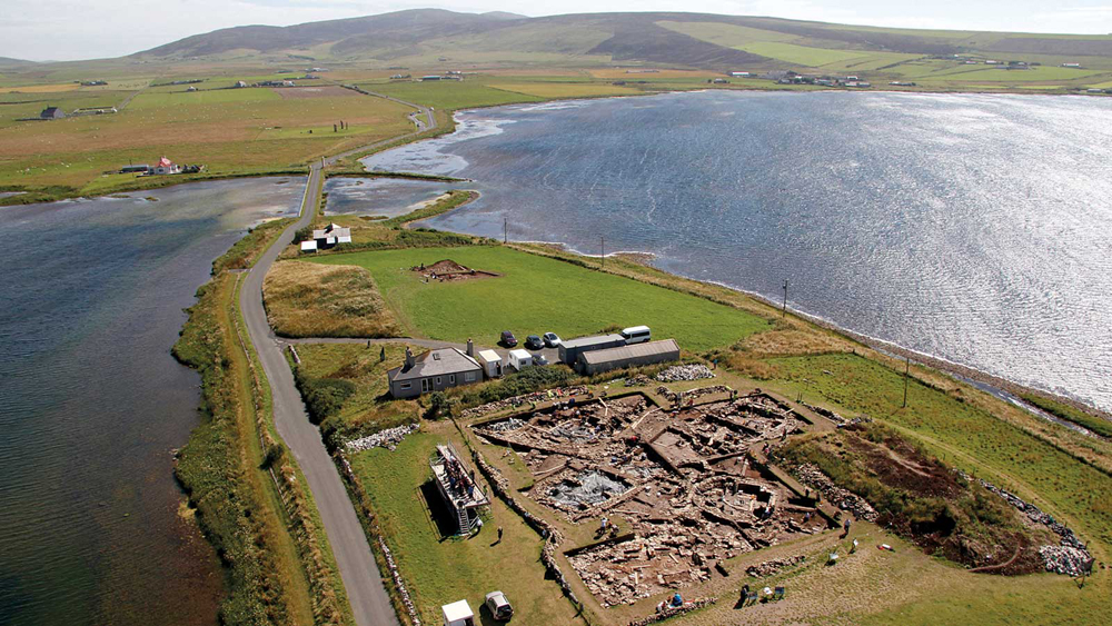 This complex prehistoric environment is a World Heritage site known as the Heart of Neolithic Orkney, and the Ness of Brodgar appears to be the anchor piece