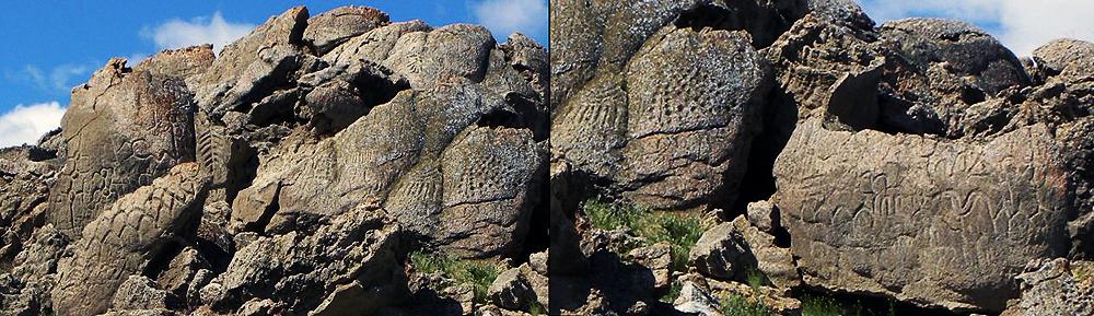 Petroglyphs in Nevada, United States
