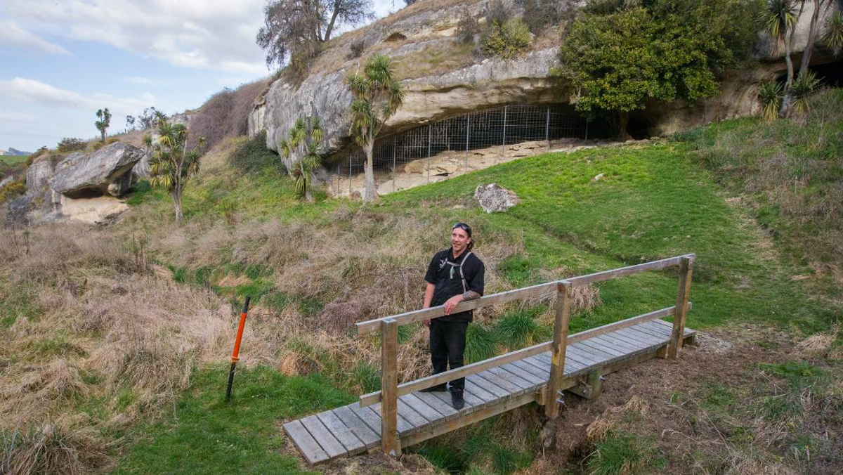 New Zealand rock art site