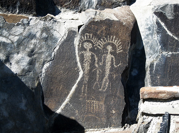 Rock art from the Oregon Territory, United States