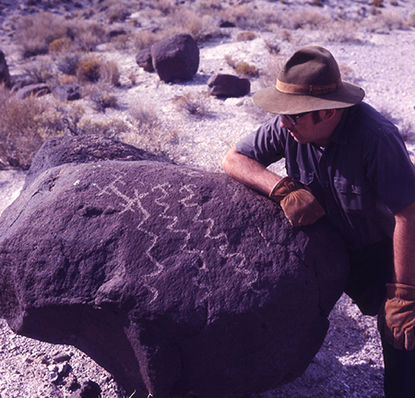 Rock Art Petroglyph Carvings Nevada America