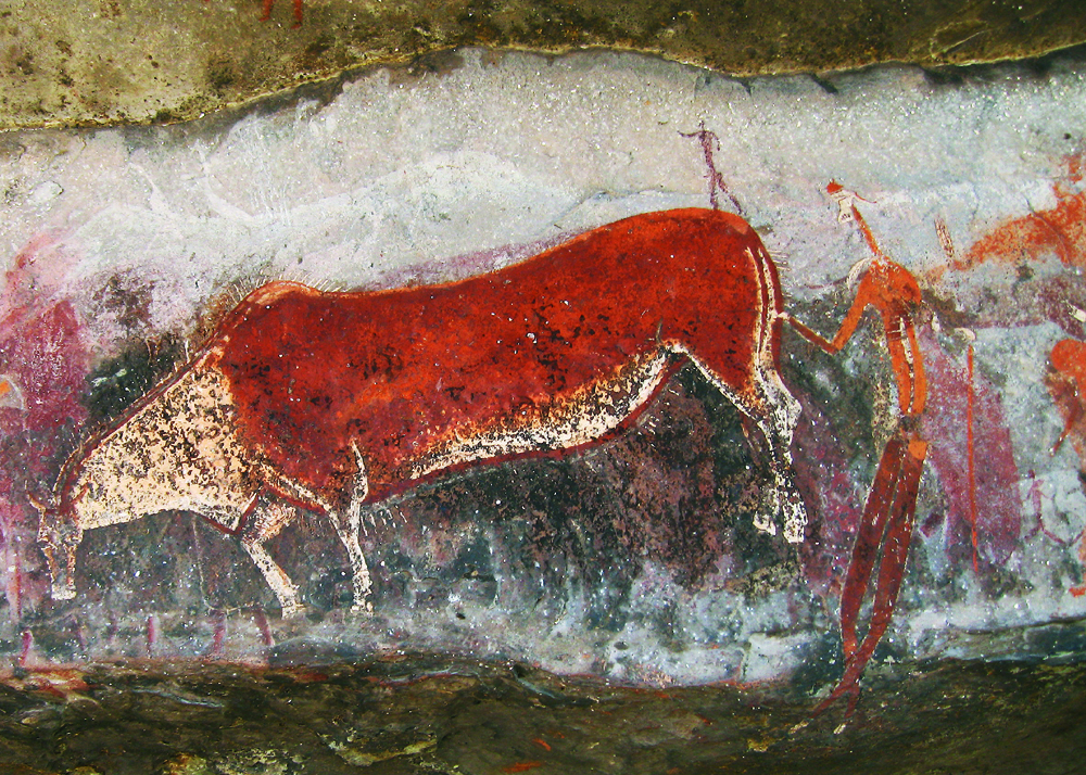 composite creatures in rock art such as the San rosetta stone