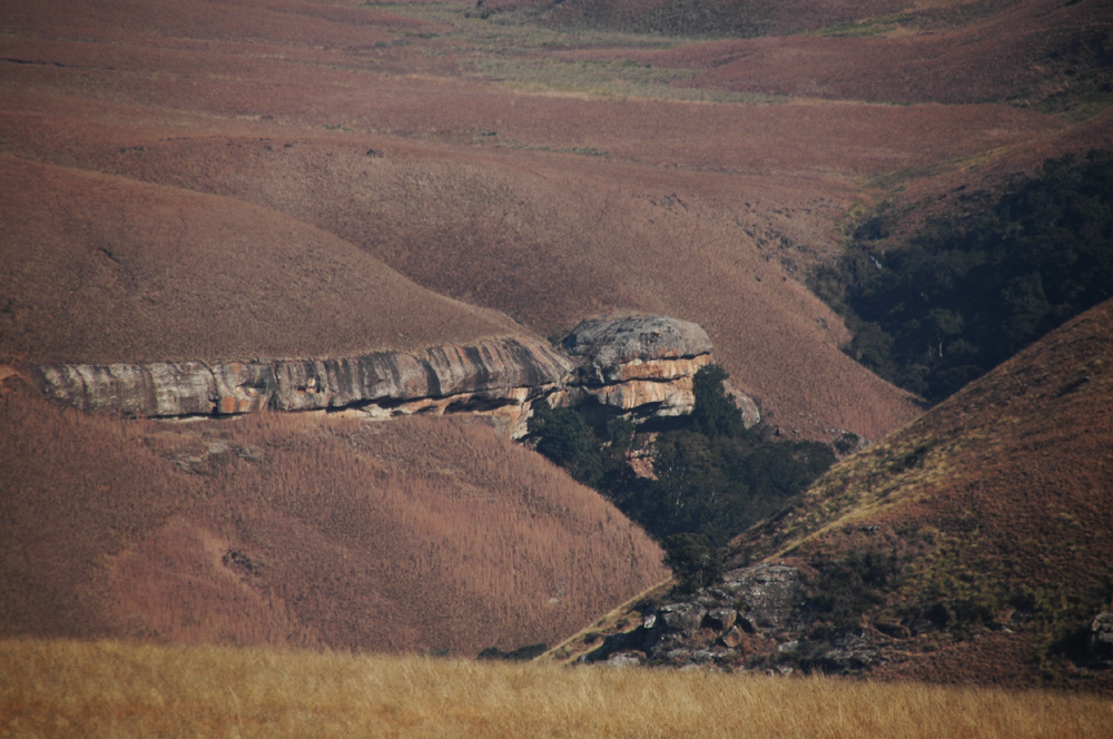 Rock art shelter in the Drakensberg Mountains