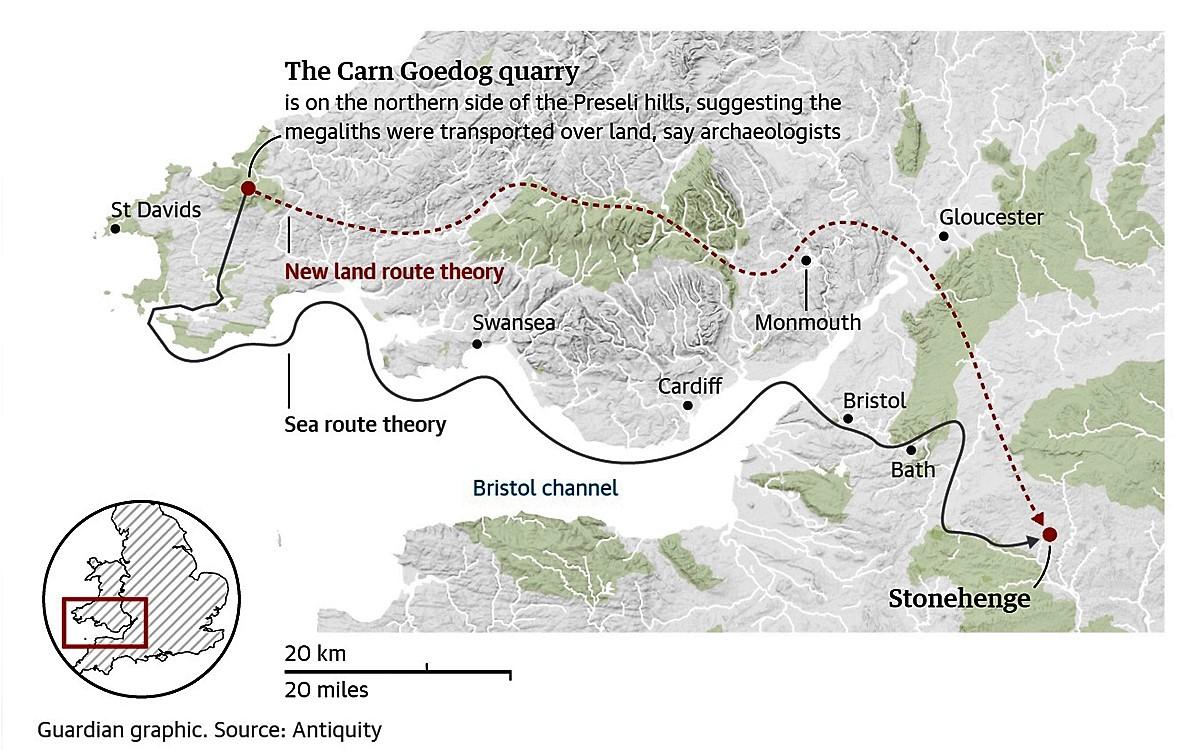 Transporting the bluestones of Stonehenge