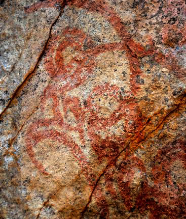 Prehistoric rock paintings discovered in southern India at Kudumianmalai