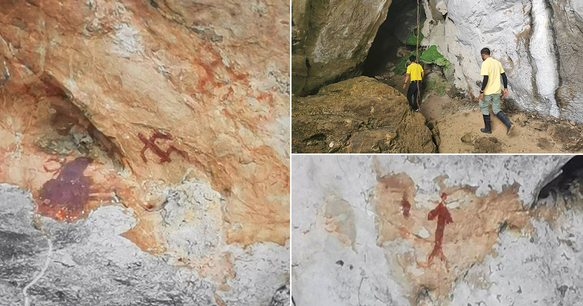 Newly discovered cave paintings Phang Nga art Thailand's Phang Nga province Phang Nga Bay Marine National Park