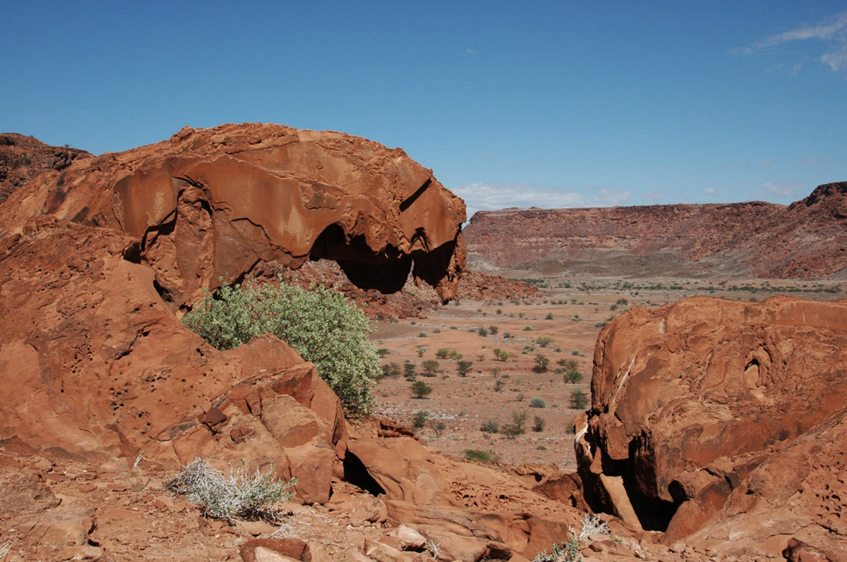 The landscape of Twyfelfontein in Namibia, Africa
