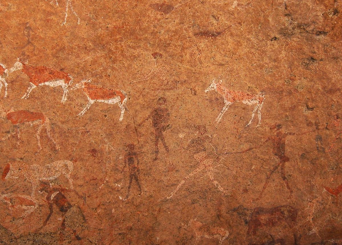 White Lady of Brandberg rock art, Namibia, Africa