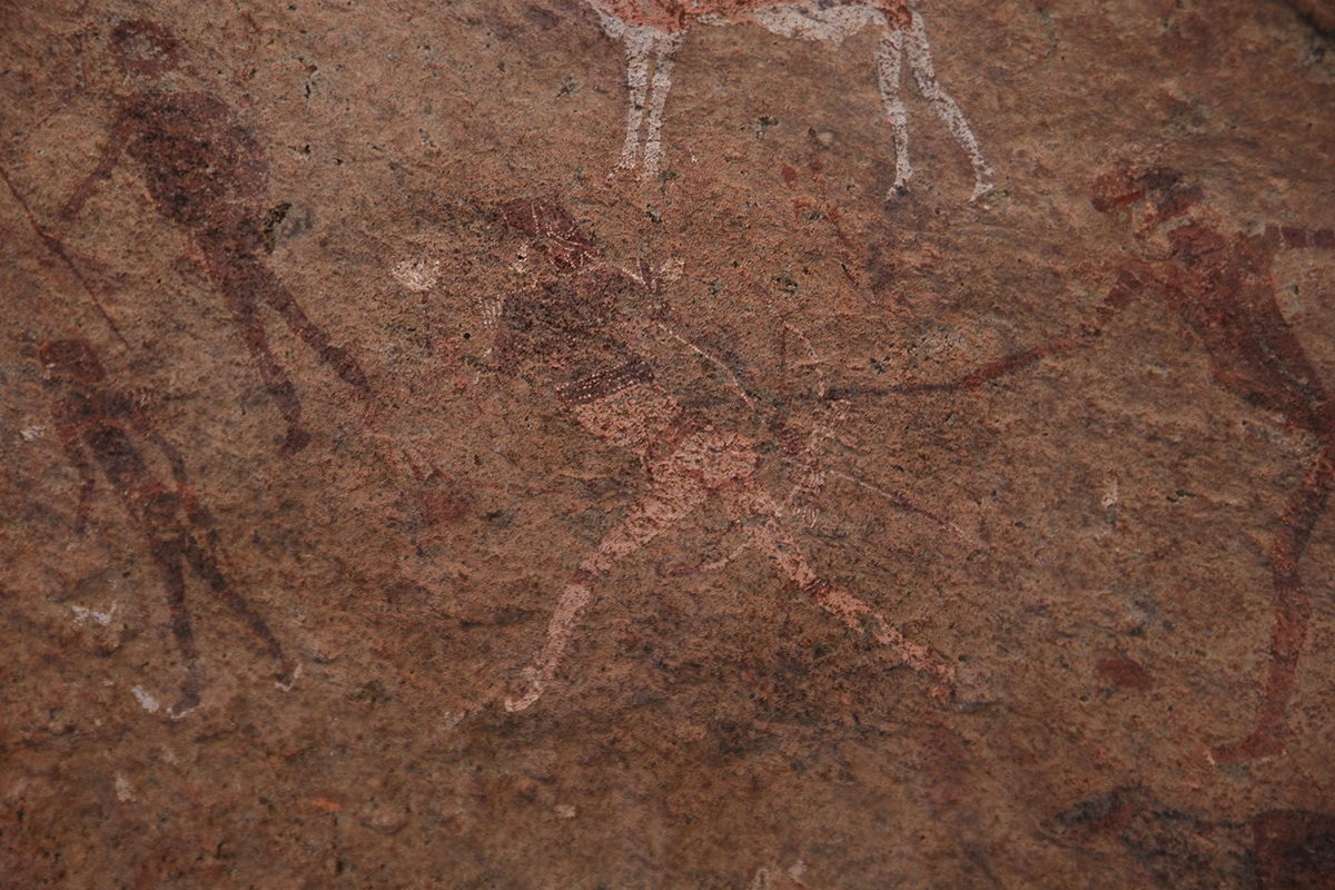 White Lady of Brandberg, Namibia rock art, Africa
