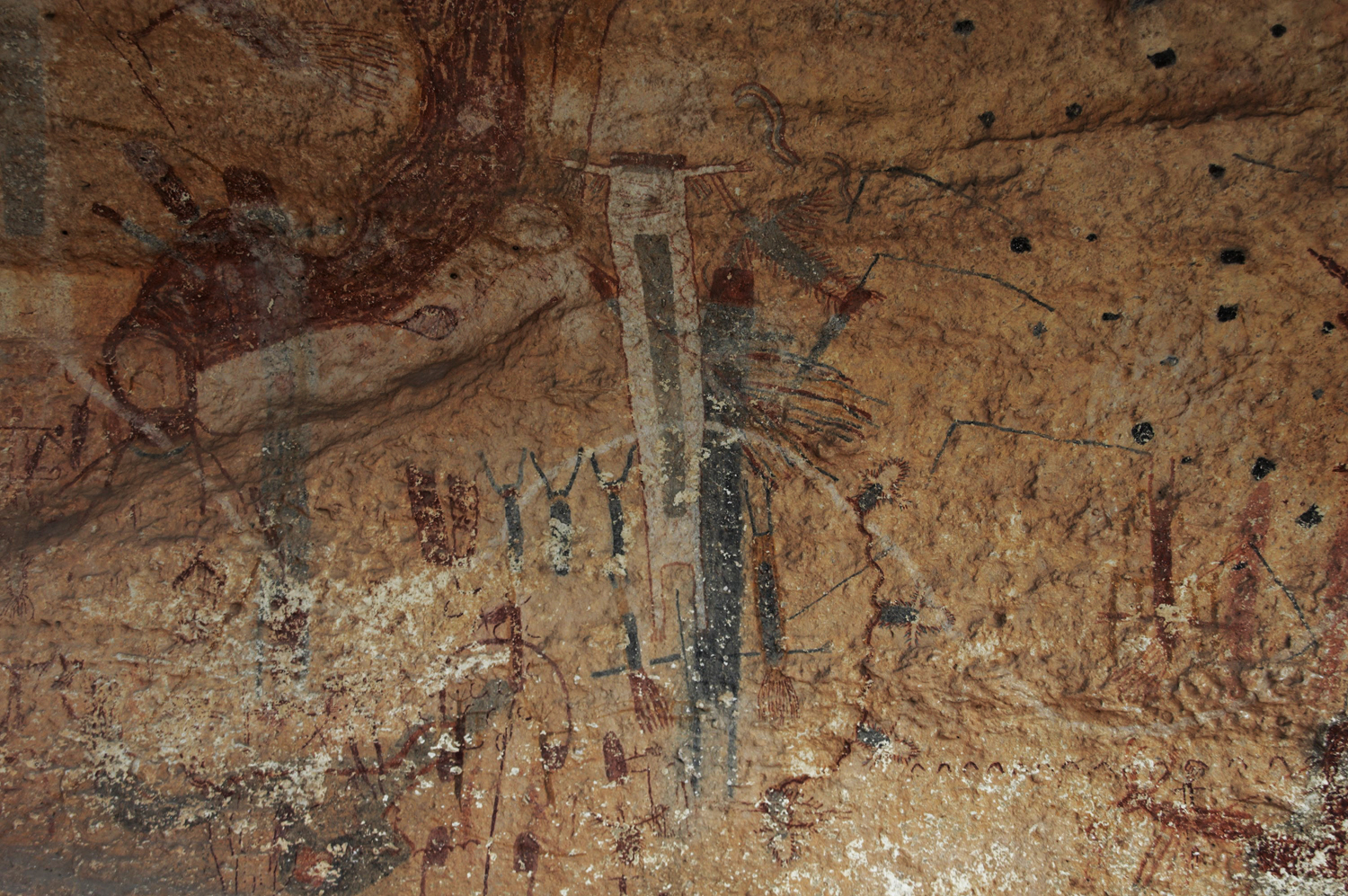 White Shaman Panel. Lower Pecos rock art