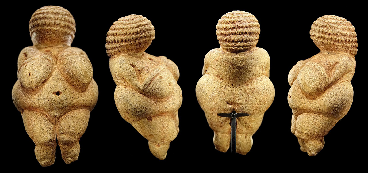 Ancient Artifacts Natural History Museum Vienna Austria Palaeolithic female figurines Venus Willendorf