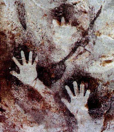 Hand paintings and symbols in rock art for Hand painting art