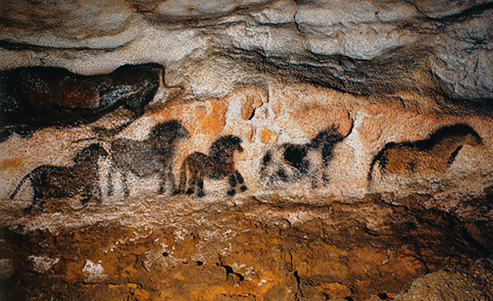 Caveman Paintings France : Horse domestication horses in archaeological record