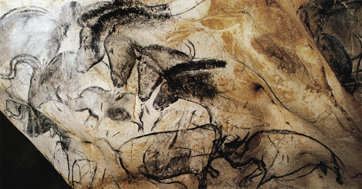 Fighting Rhino Four Horses The Cave Art Paintings Of The Chauvet Cave